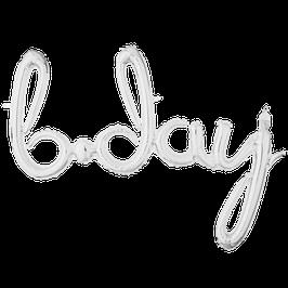 """Ballon Schriftzug """"b.day"""""""
