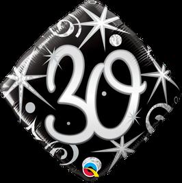 Ballon Geburtstag: Happy Birthday 30 schwarz