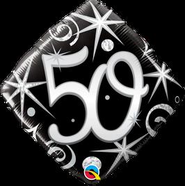 Ballon Geburtstag: Happy Birthday 50 schwarz