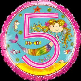 Ballon Geburtstag Rachel Ellen 5: Meerjungfrau Nixe