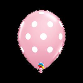 18066 Polka Dots Pink- Latexballon rund