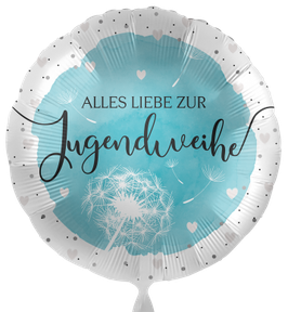 """70590K Folienballon """"Alles Liebe zur Jugendweihe"""""""