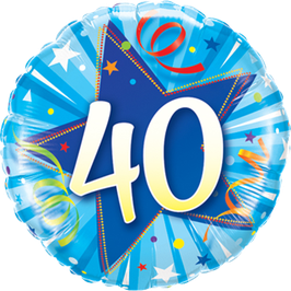 Ballon Geburtstag: Happy Birthday 40