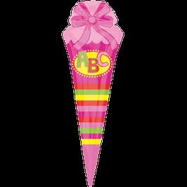 Folienballon XXL Schultüte pink