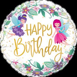 Ballon Geburtstag: 12263 Wild Flowers Fairies Elfen