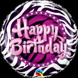 Ballon Geburtstag: 38070 Happy Birthday Zebra Print