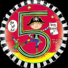 Ballon Geburtstag Rachel Ellen 5: Seeräuber Pirat