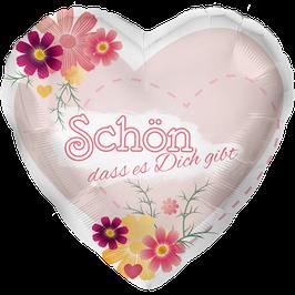 """L0040 Folienballon """"Schön dass es Dich gibt"""""""