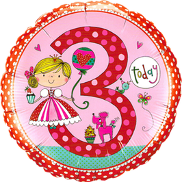 Ballon Geburtstag Rachel Ellen: 3 Prinzessin Princess