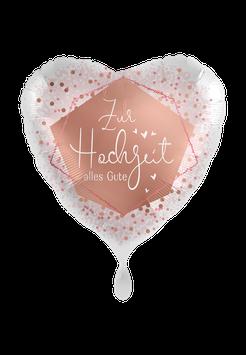 Folienballon Hochzeit: Zur Hochzeit alles Gute