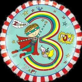 Ballon Geburtstag Rachel Ellen: 3 Superheld Hero