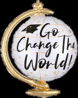 Folienballon ABI: Go Change the World!