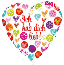"""3286701 Folienballon """"Ich hab dich lieb"""""""
