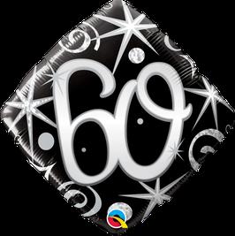 Ballon Geburtstag: Happy Birthday 60 schwarz