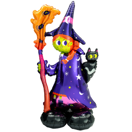 NEUHEIT: Folienballon XXL AirLoonz - Scary Witch / Hexe