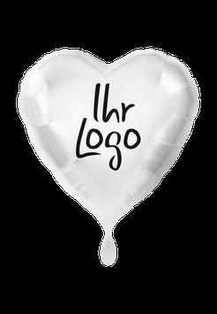 Logoballon Herz befüllt weiß