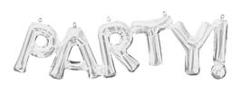 """Ballon Buchstaben Schriftzug  """"party"""""""