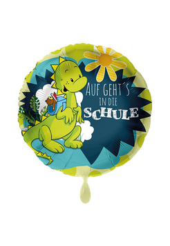 Folienballon Schulanfang: Auf gehts in die Schule