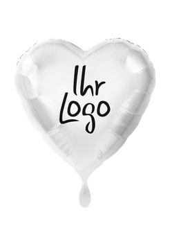 Logoballon Herz unbefüllt weiß