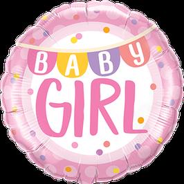 Folienballon zur Geburt mit Fuß