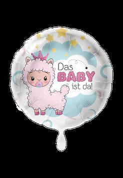 Folienballon Lama Baby Mädchen