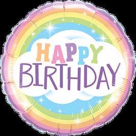 Ballon Geburtstag: 78658 Happy Birthday Rainbow / Regenbogen