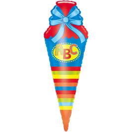 Folienballon  Schultüte Blau