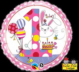 Ballon Geburtstag Rachel Ellen: 1  Hase