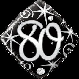 Ballon Geburtstag: Happy Birthday 80 schwarz