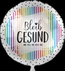 """70853K Folienballon """"Bleib Gesund und pass auf Dich auf!"""""""