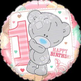 Ballon Geburtstag-Zahl: 20776 Me To You - Tiny Tatty 1. Geburtstag Mädchen (Teddy)