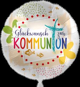 """5408K  Folienballon """"Glückwunsch zur Kommunion"""""""