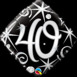 Ballon Geburtstag: Happy Birthday 40 schwarz