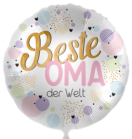 "70300K Folienballon ""Beste Oma der Welt"""