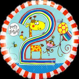 Ballon Geburtstag Rachel Ellen: 2 Giraffe Affe Vogel Biene