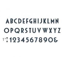 Fustella alfabeto Deco 661815