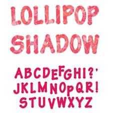 Fustella alfabeto Lollipop maiuscolo 659812