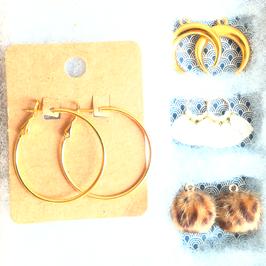 Boucles d'oreilles créoles 33mm
