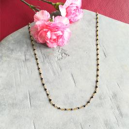 Chaîne rosaire spinelle noire