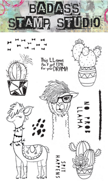 No Drama LLama's  | BadAss Stamps by Ilse Kleijer & Toyah v. Veen