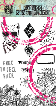 Free to feel free | BadAss StampStudio