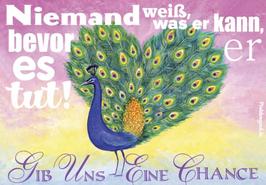 Postkarte: Gib uns eine Chance
