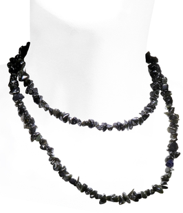 Obsidian Endlos-Splitterkette, Länge ca 90,0cm