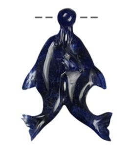 """Amulett Delfinpaar mit Ball """"Sodalith"""""""