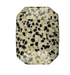 Flatstone eckig Dalmatiner-Jaspis
