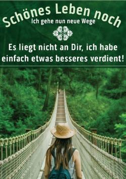 Postkarte: Neue Wege - ich habe etwas besseres verdient