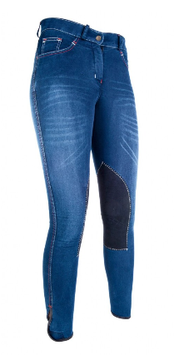 RIDING BREECHES  - SUMMER DENIM - Alos knee patch   H-3070