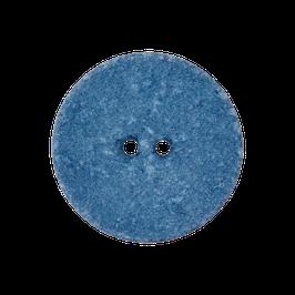 Ronde 2 gaats matte blauwe knoop van gerecycled materiaal.