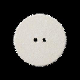 Ronde 2 gaats matte off-white knoop van gerecycled materiaal.