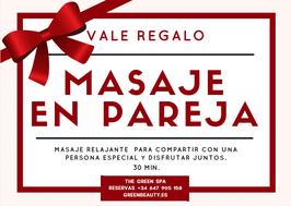 Vale Regalo Masaje en pareja 30 min.